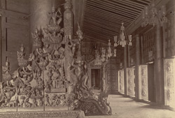 Specimen of the Wood Carving inside the Atoo-ma-shee or Incomparable Pagoda, [Mandalay]